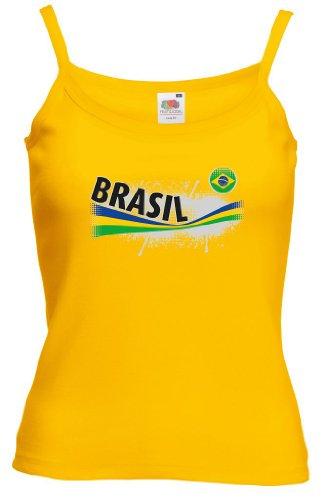 Fruit of the Loom Brasilien Damen T-Shirt Vintage Lady Fit Strap|XS