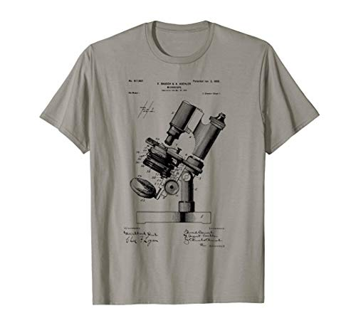 Microscope Microscopy Biologist Gift Patent microbiologist T-Shirt