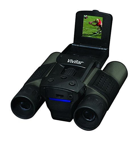 Vivitar VIV-CV-1225V 8MP 2-in-1 Binoculars and Digital Camera, Black