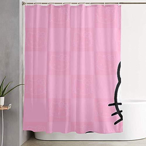 Pooizsdzzz Meirdre Stylish Shower Curtain Hello Kitty Head Printing Waterproof Bathroom Curtain 60 X 72 Inches