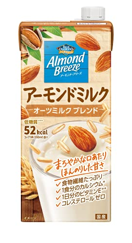 【Amazon.co.jp限定】 AZ アーモンド・ブリーズ アーモンドミルク プラス オーツミルク 1L ×6本