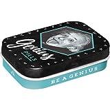 Nostalgic-Art 81394 Celebrities - Einstein | Pillen-Dose | Bonbon-Box | Metall | Gefüllt Mit Pfefferminz-Dragees