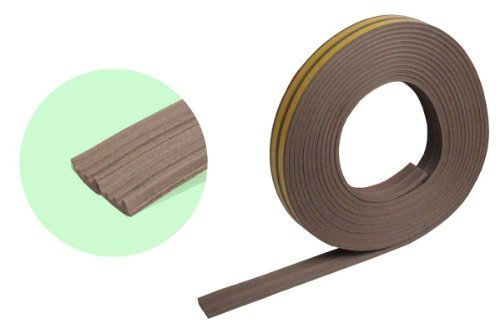 2 x 5m Gummidichtung APTK-Profil - Energie sparend und Geldbeutel schonend (Braun)