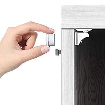 Jambini Magnetic Cabinet Locks - Child Safety Locks for Cabinets and Drawers - Drawer Locks Baby Proofing Cabinet Locks for Babies  4 Locks + 1 Key