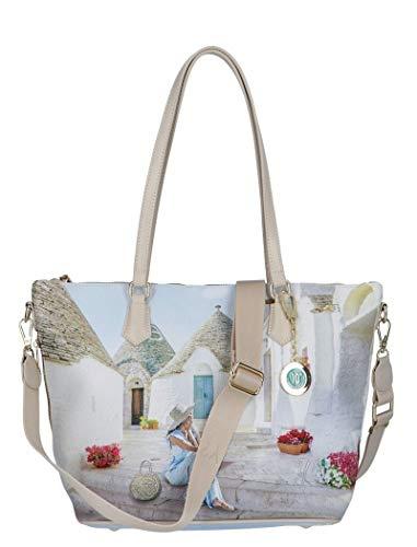 YNOT? Borsa Shopping Donna con tracolla art. YES-397 TRULLI - cm. 44.5×17×29