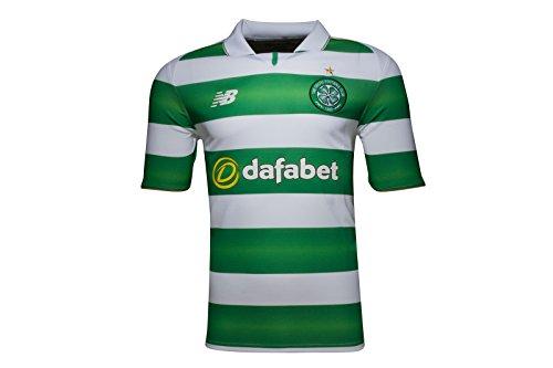 New Balance Herren Celtic Glasgow Trikot Heim 2016/2017 Heimtrikot, grün/weiß, S