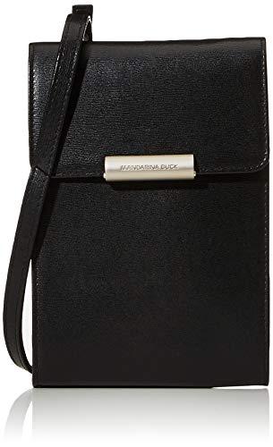 Mandarina Duck Damen Mellow Leather Tracolla/Nero Umhängetaschen, Schwarz (Black)