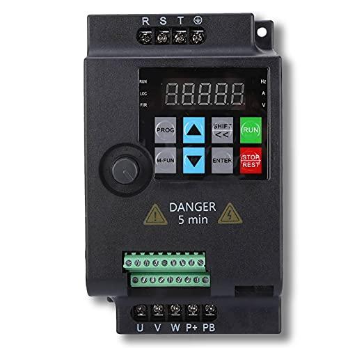 Frequenzumrichter, 2.2KW VFD Frequenzumrichter Wechselrichter, 3 Phasen Drehstrommotoren Wechselstrom Drehzahlregler Frequency Converter VFD Drive Inverter für Motor 220V/ 380V 0.75/1.5/2.2KW