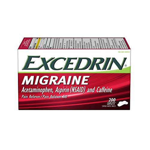 Excedrin Migraine Relief Caplets to Alleviate Migraine Symptoms - 200 Count