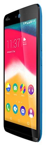 Wiko 9554 Rainbow Jam Smartphone (12,4 cm (5 Zoll) HD IPS-Display, 1,3 GHz Quad-Core Prozessor, 16GB interner Speicher, 1GB RAM, Android 5.1 Lollipop) blau