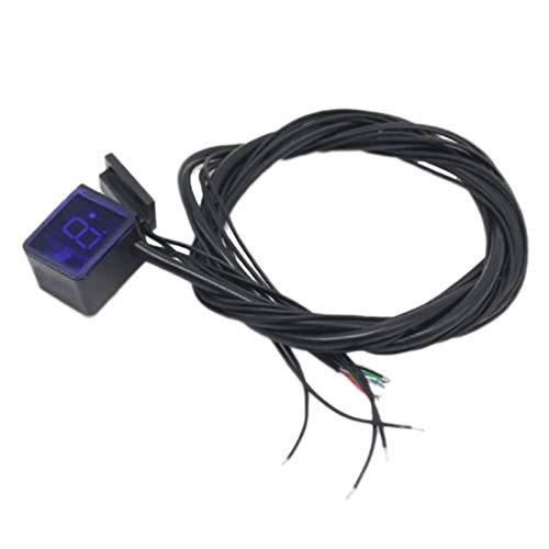 Fransande - Pantalla LED universal para moto, con interruptor de velocidad, indicador de velocidad, digital, sensor de velocidad de moto