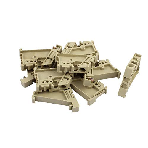 X-DREE Beige EW-35 Terminal Block Ends Plate ABS Sold in Lot of 10 Pcs (6b6b3c4f-a222-11e9-8d7c-4cedfbbbda4e)