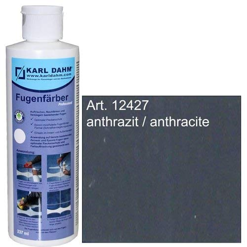 Fugenfärber für frische saubere Fugen, verschiedene Farben zur Fugenreparatur, Colorieren und Versiegeln (anthrazit) 12427