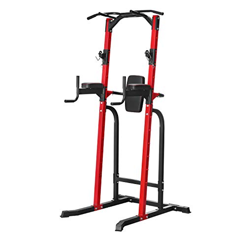 HYD-Parts Adjustable Power Tower,Standing Full Body Chin up Bar,Dip Station,Strength Muscle Training Fitness Workout