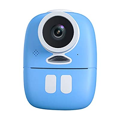Gamogo Kids Instant Digital Camera Double Lens Toys Instant Print Camera Support Selfies Video with Wider Strap Cartoon Bag Photo Thermal Paper Portable Photo Printer Compatible with Girl Boy by Gamogo