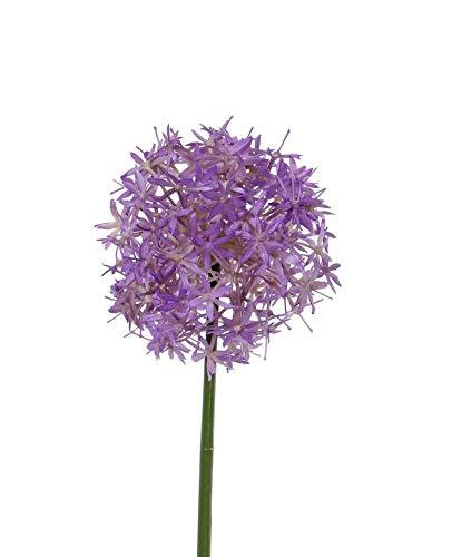 artplants.de Künstliche Blume Zierlauch REINGARD, violett, 30cm, Ø 15cm