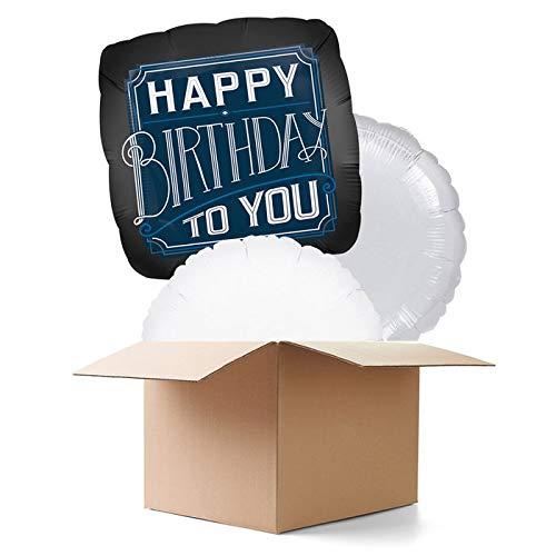 CREATIV DISCOUNT Ballongrüße / Geschenkballons / Ballonversand, Happy Birthday, 3 Ballons