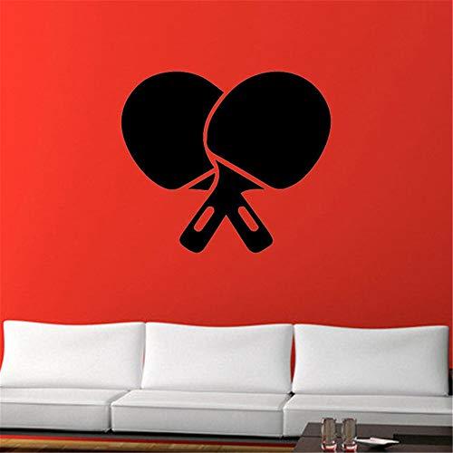 Preisvergleich Produktbild zzlfn3lv Tischtennis Ping Pong Vinyl Aufkleber Wandaufkleber Für GYYM Removable Home Decor Wohnzimmer Wandtattoos Sport Teen Jungen Room42 * 54 cm