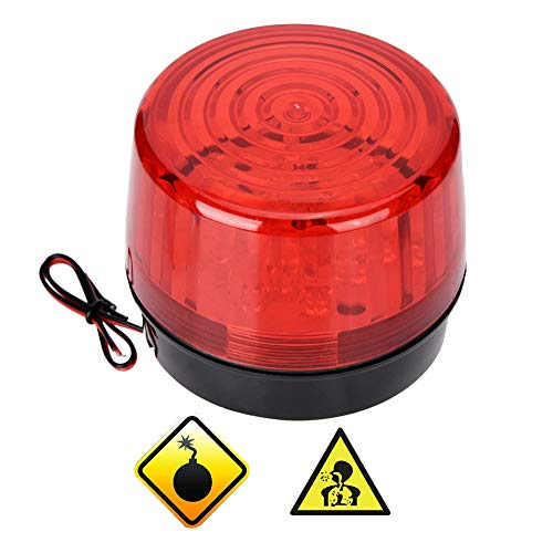 Warnblinkanlage Warnleuchte Warnblinkanlage Warnleuchte 12 / 24V DC Sicherheit Blinkende LED Blitzleuchte Notruf-Warnblinkanlage, Einfache Installation, Hohe Helligkeit, Wasserdicht
