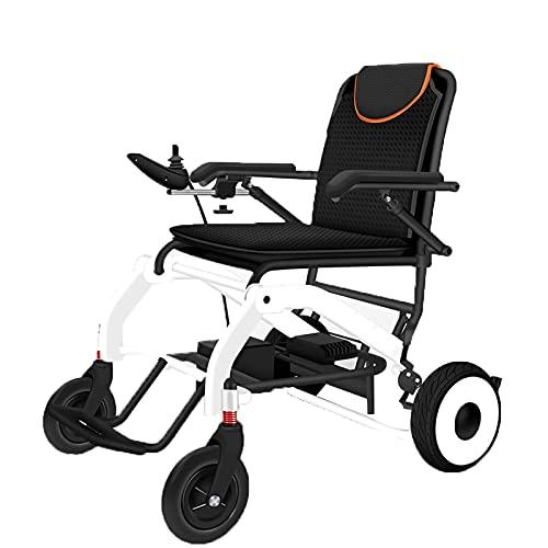 Silla de ruedas eléctrica plegable Silla de ruedas ligera Silla de ruedas eléctrica plegable y ligera Silla de ruedas inteligente automática de tamaño pequeño para personas mayores Scoot portátil mult