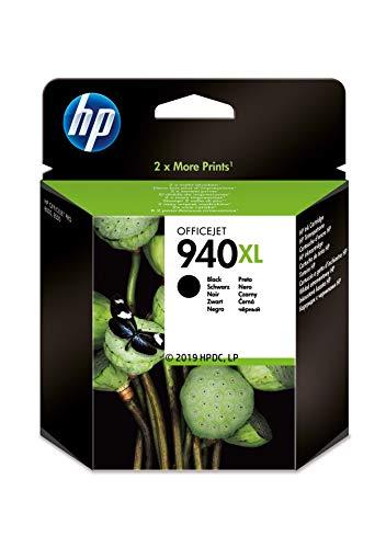 HP 940XL C4906AE Negro, Cartucho de Alta Capacidad Original, de 2.200 páginas, para impresoras HP OfficeJet Pro serie 8000, 8500 y 900