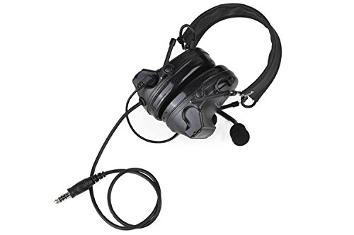 IRON JIA'S Hunting Headset Shooting Tactical Earmuffs Aviation Headphone Noise Canceling Hearing Protection NATO Plug (Full Black)