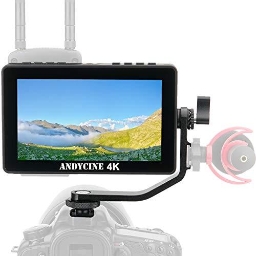 ANDYCINE A6 Pro Kamera Feldmonitor,5.5 Zoll FHD 1920x1080 4K IPS Touchscreen Kameramonitor mit DSLR 3D LUT HDMI Eingang Type C Eingebautes F970 Power Kit für LED Licht