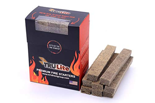 TRULite Premium Fire Starters, 20 Piece Box, USA Made, Ideal for Quickly & Safely Lighting All Types of Grills, Bonfires, Fire Pits, Fireplaces, Wood Stoves, Campfires, and More!