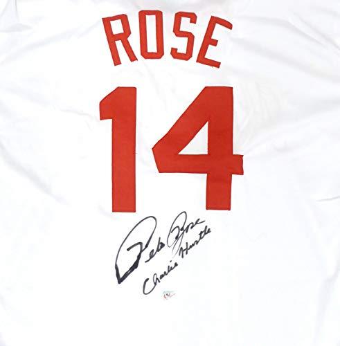 Cincinnati Reds Pete Rose Autographed Jersey Charlie Hustle PR Holo
