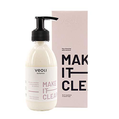 veoli Make it clear - Leche limpiadora facial lechosa (200 ml, para todo tipo de pieles, vegana)