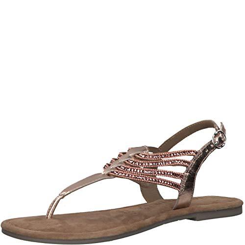 Tamaris Mujer Sandalias de Vestir 28151-24, señora Sandalia con Tiras, Sandalias con Correa,Zapatos de Verano,cómodo,Plana,Copper Glam,39 EU / 5.5 UK