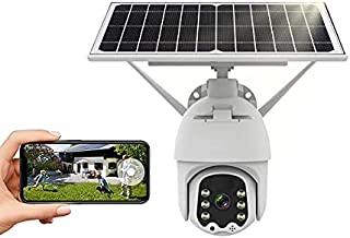 Solar Outdoor Camera, 1080p Waterproof Solar Battery WiFi PTZ Camera, Home Surveillance Camera with 18000mAh Rechargeable ...