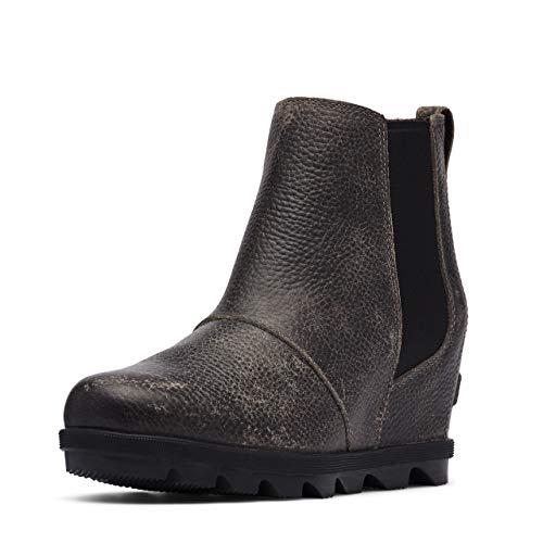 Sorel Women's Joan of Arctic Wedge II Chelsea Boot - Light Rain - Waterproof - Quarry - Size 7.5