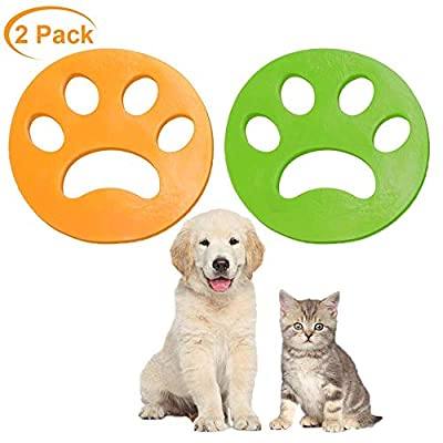 Pet Hair Remover for Laundry,Homewit 2 PCS Cleaning Ball Washing Machine Pet Fur for Laundry Dog Cat Hair Clothes Cotton Wool