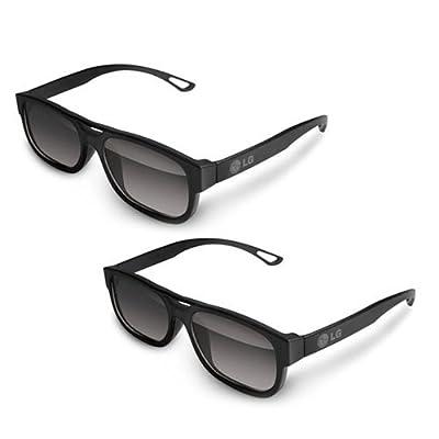 LG AG-F210 Cinema 3D Glasses (2-Pairs) for 2011 and 2012 LG 3D LED-LCD HDTVs (Colors May Vary Black, White, Orange )