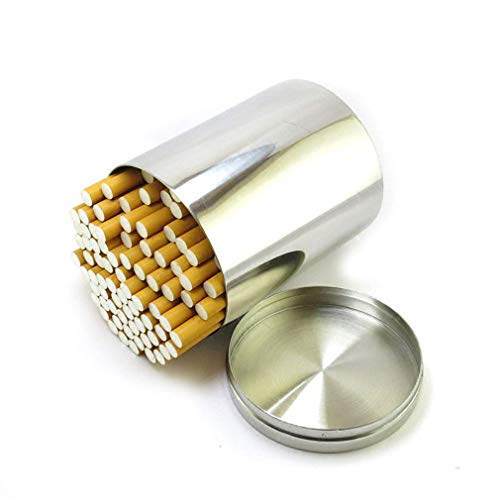 WANGXNCase sigarettenkoffer roestvrij staal vochtbestendig outdoor sigaret gevuld thee blikjes gewone sigaretten