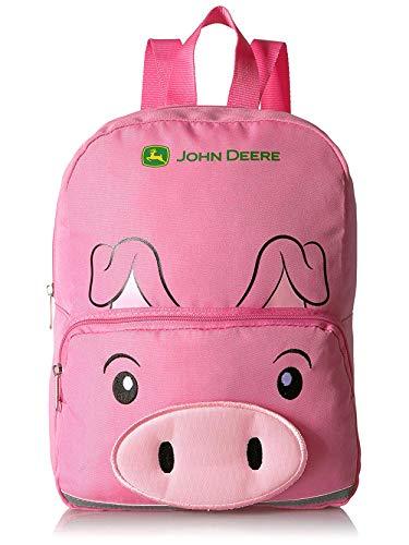 John Deere 13 inch Mini Backpack (13', Pink Pig)