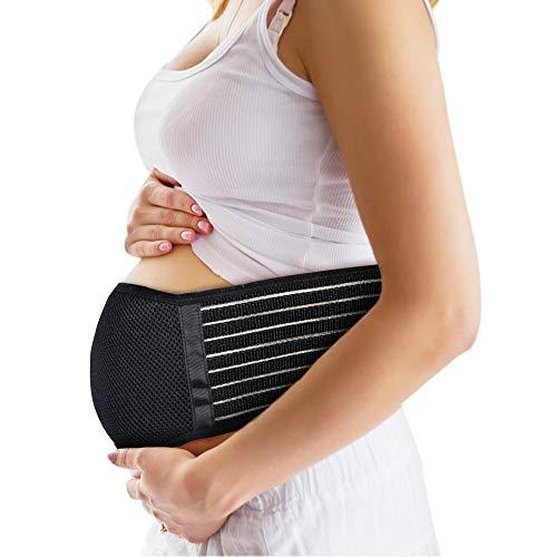 Faja Embarazada, Faja Postparto Embarazo Cinturón De Maternidad Apoyo Negro Transpirable Y La Elasticidad Doble Capa