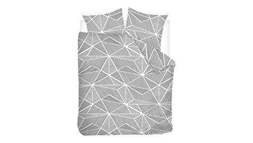 Snoozing Pauline - Juego de funda nórdica (200 x 200/220 cm y 2 fundas de almohada), color gris