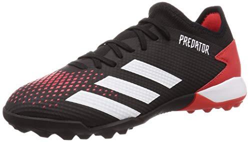 Adidas Predator 20.3 L TF - Botas de fútbol para hombre, Hombre, FBA82, negro rojo, 7.5 UK - 41 1/3 EU - 8 US