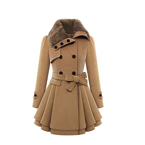 VEMOW Damen mode mit umgekehrtem kragen langarm-mantel türkis 38