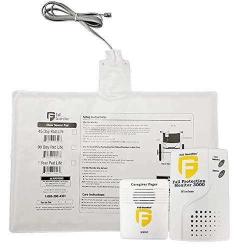 Monitor de protección contra caídas 3000 con almohadilla para silla de 1 año y pagador, color blanco