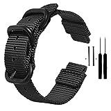 Zeit Diktator Watch Band for Garmin Forerunner 220/230/235/620/630/735XT/235 Lite,Nylon Smart Watch Replacement Band,Optional Color (Black)