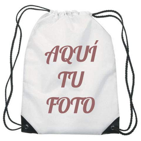 Mochila Saco Personalizada con Foto (Blanca