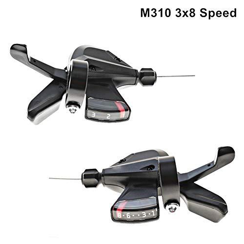 FORYOURS SL-M310 Schalthebel 3 Gang, Fahrradbremse Schalthebel, SL-M310 Rapid Fire Shifter 3x8 Speed Mountainbike Zubehör, Schaltzüge Schwarz