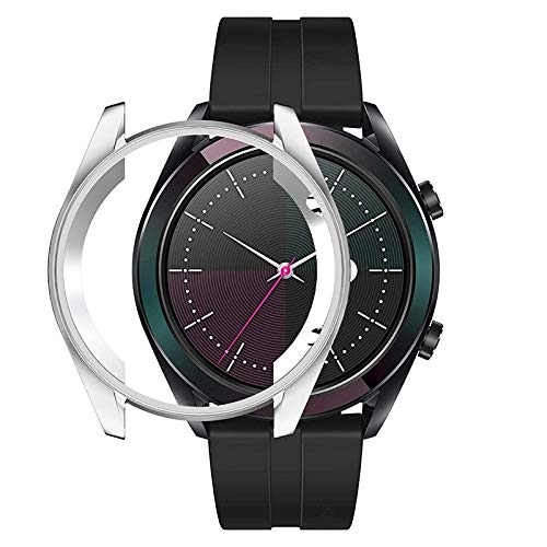 Uhr-Schutzhülle for Huawei GT 42mm Elegante TPU-Schutzhülle (schwarz) (Farbe : Silver)