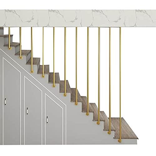 NATUO-Muebles Barandilla de Metal en Forma de L Barandilla de Escalera dúplex para el hogar Barandilla de Escalera de Hierro Forjado Vintage para escaleras Interiores y lofts