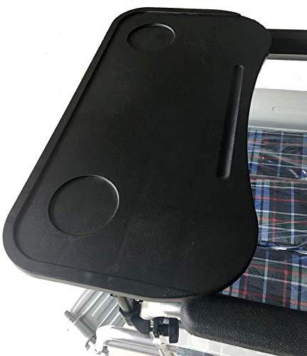 QMZDXH Rollstuhl Tablett Tisch Abnehmbar, Rollstuhl Lap Tray Tisch Zubehör Mit Getränkehalter für Schreibtisch Rollstuhl Arme Schreiben, Lesen Und Essen