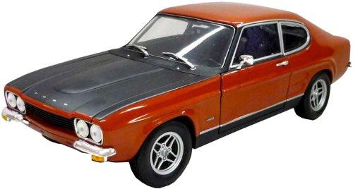 Bburago 15643207 - Ford Capri, 1:32,rot/gelb