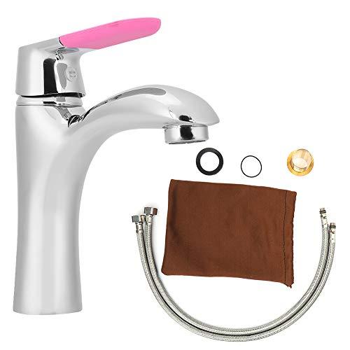 zcyg Grifo Grifo, Grifo De Lavabo Bajo Encimera De Cobre De Estilo Moderno Y Simple Grifo De Agua Fría Y Caliente para Baño